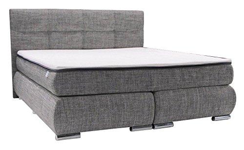 dreams4home boxspringbett 39 rondo 39 grau 90 100 120 140 120 160 180 200x200cm hotelbett. Black Bedroom Furniture Sets. Home Design Ideas