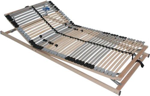 Interbett 554100 Rahmen Lattenrost Pro 42 Tüv Gut 7 Zonen, 39 Leisten Kopf- und Fuß Verstellbar, 90 x 190