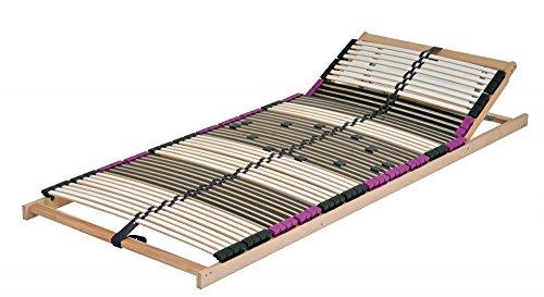 DaMi Wohn- und Schlafsysteme Neu mit 56 Federholzleisten !!!! 7 Zonen Lattenrost aus Buche Premium KV inkl. 6 fache Härteverstellung, zerlegt, mit Kopfverstellung