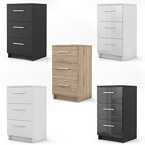 oskar nachtkommode f r boxspringbett 2 er set 66cm hoch nachtschrank nachttisch kommode schrank. Black Bedroom Furniture Sets. Home Design Ideas