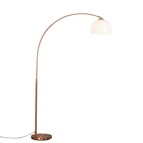 qazqa landhaus vintage rustikal modern bogenleuchte bogenlampe lampe leuchte arc kupfer. Black Bedroom Furniture Sets. Home Design Ideas
