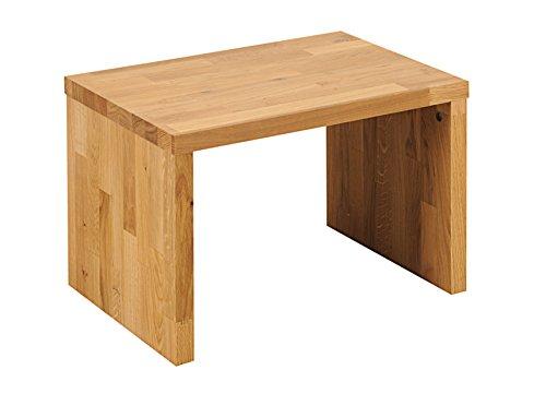 SAM Nachtkommode Ben 1 aus massiver, naturfarbener Wildeiche parkett, Nachttisch in schlichtem Design