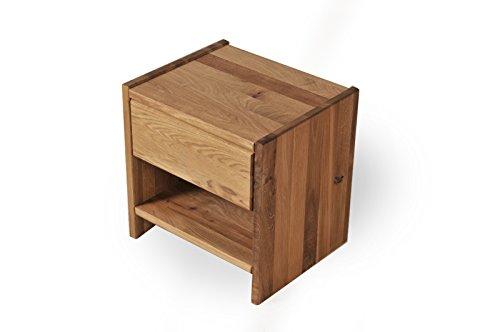 SAM® Nachtkommode Jessica aus massivem Wildeiche-Holz, mit ausreichend Verstaumöglichkeiten in rustikalem Design