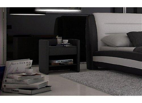 SAM® Nachtkommode Konsole Nako schwarz, mit einer Ablage, einem Einlegeboden und einer Schublade [53256279]