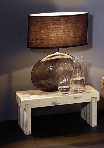 SAM® Nachtkommode Lolita aus massiver Akazie weiß lasiert (white wash) in Balkenoptik