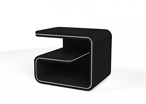 SAM® Nachtkommode NAKO 99 schwarz linksseitig stellbar auch für rechts erhätlich exklusiv modisch