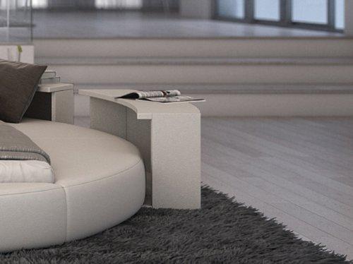 SAM® Nachtkommode Rotana in weiß Nako im runden Design