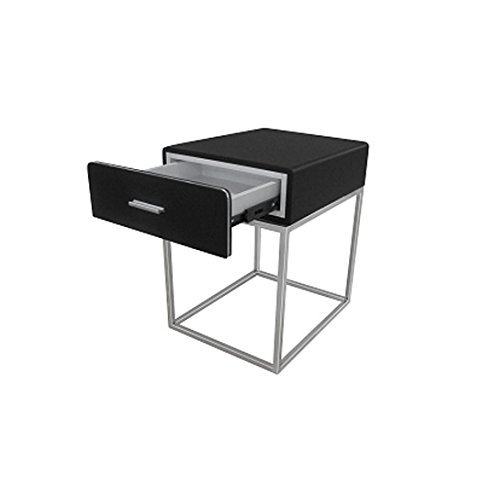 SAM® Nachtkommode schwarz Nacht-Konsole aus edlem SAM®- Lederimitat in modernem Design [521432]