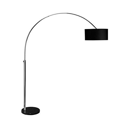 Butlers BowStandleuchte - Stehlampe - große Bogenstandleuchte fürs Wohnzimmer - modernes Design - Textilschirm