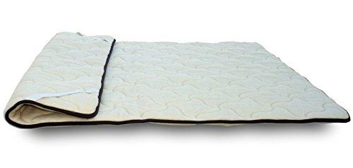 - Topper in Wolle und Memory Concealer für Matratze oder sovramaterasso Warm und Bequem wie Matratzenauflage
