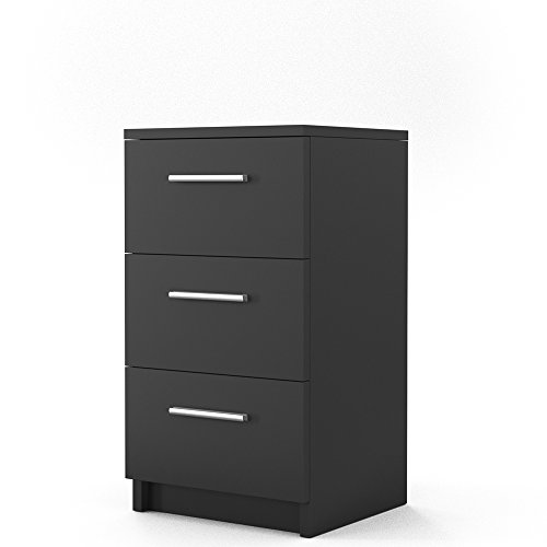 vicco nachtkommode f r boxspringbett 66cm hoch nachtschrank nachttisch kommode schrank bequem. Black Bedroom Furniture Sets. Home Design Ideas