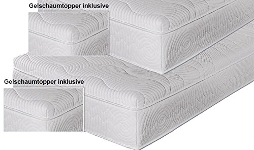 winkle doppelpack boxspringmatratze spring gel topper 100x200 h2. Black Bedroom Furniture Sets. Home Design Ideas