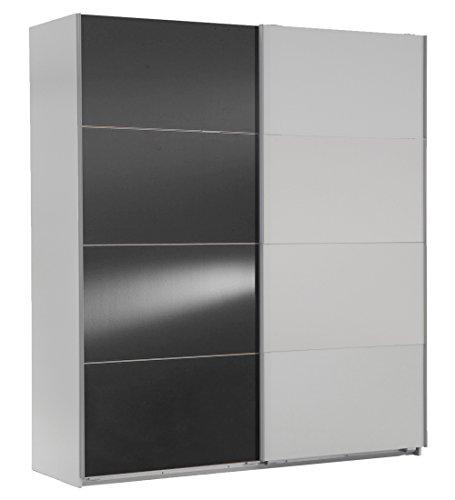Wimex Kleiderschrank/ Schwebetürenschrank Easy A Plus, (B/H/T) 135 x 210 x 65 cm, Weiß/ Absetzung Glas Grau