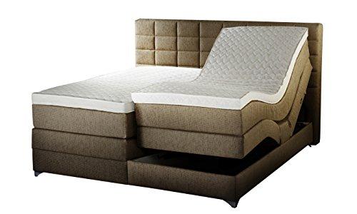 winkle savannah mv boxspringbett stoff beige 215 x 193 x 120 cm. Black Bedroom Furniture Sets. Home Design Ideas
