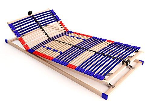 Schlummerparadies Stabiler Lattenrost 100% BUCHE, 42 Leisten, 7 Zonen, Mittelgurt Sleep Best 42
