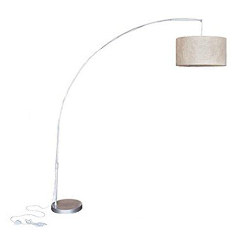 vidaXL Bogenlampe Design 192cm Stehlampe Papierlampe Stehleuchte Standleuchte