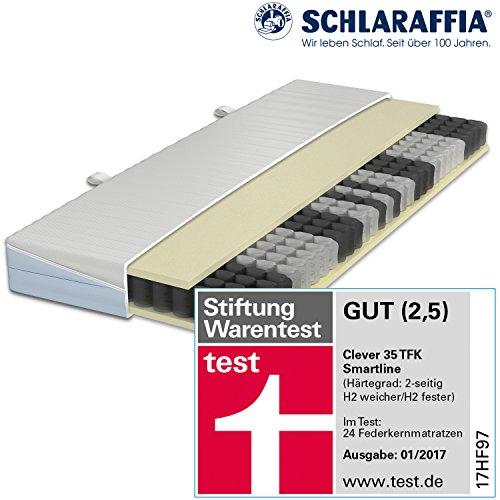 Schlaraffia Clever 35 TFK Taschenfederkernmatratze 90 x 200 cm H2 weich und H2 fest Wende-Matratze - Stiftung Warentest 01/2017 Gut (2,5)