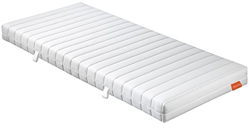 sleepling 190136 Matratze Basic 60 TFK - Härtegrad 3 140 x 200 cm, weiß
