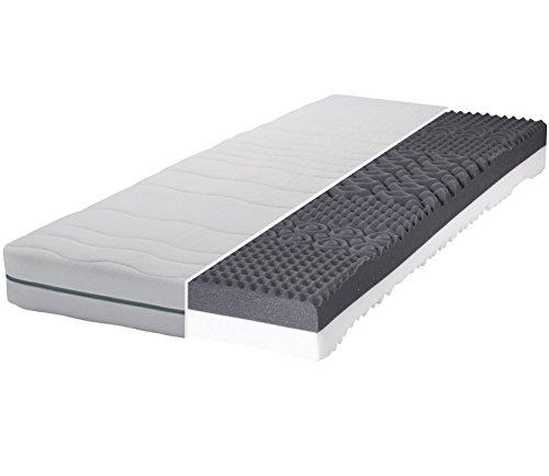 Gigapur Boston 28619 Matratze | 7-Zonen Kaltschaummatratze H2 und H3 | Komfort Schaumstoff-Matratze | Bezug abnhembar | 180 x 200 cm