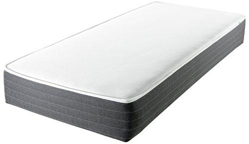 SleeWe SLWmtf002 TT die Wohn Matratze, Tonnentaschenfederkern/Kaltschaum, 4 Lagen Komfort und Style, Lounge Polster Bezug, 7 Zonen Ortho-Relax, 90 x 200 cm