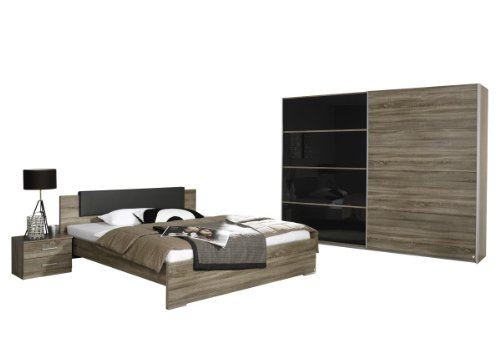 rauch schlafzimmer komplett set mit bett 180x200 schwebet renschrank eiche havanna. Black Bedroom Furniture Sets. Home Design Ideas