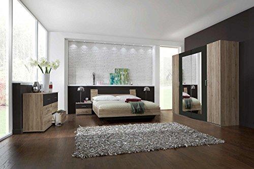Schlafzimmer, Schlafzimmermöbel, Set komplett, Komplettset, Schlafzimmereinrichtung, Komplettangebot, Einrichtung, San Remo Eiche-Nb., lava