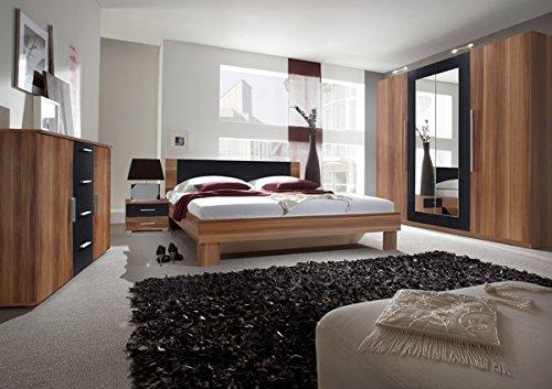 Unbekannt Schlafzimmer komplett 4-teilig 54033 kernnussrot/schwarz