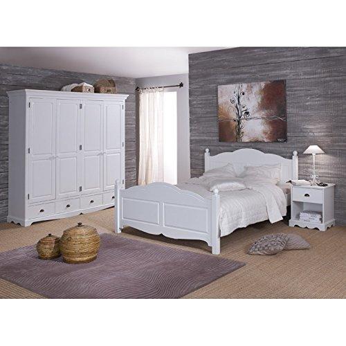 Beaux Meubles Pas Chers Schönen Möbel Nicht Liebe–Zimmer weiße Vollständige Bett 160+ Schrank + Nachttisch