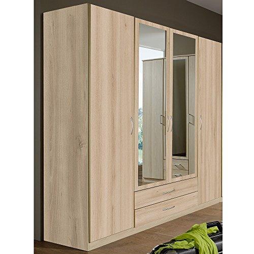 wimex kleiderschrank dreht renschrank sprint 4 t ren 2 schubladen b h t 180 x 197 x 58 cm. Black Bedroom Furniture Sets. Home Design Ideas
