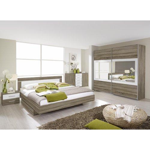 rauch Schlafzimmer-Set Venlo 6tlg. Eiche Havanna Nb., Abs. weiß