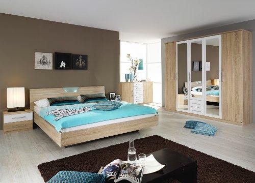 Rauch Schlafzimmer Valence,4-teilig Eiche Sonoma/alpinweiß Eiche Sonoma/alpinwe