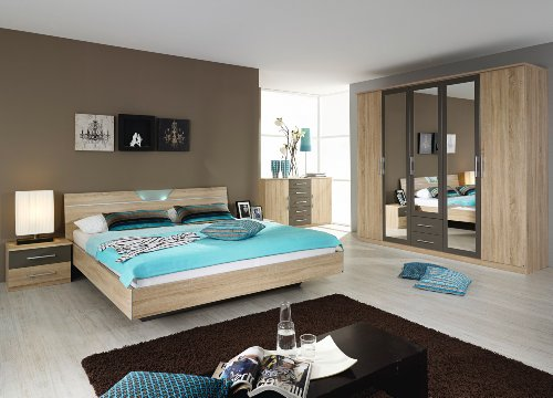 rauch Schlafzimmer Valence,4-teilig Eiche Sonoma/lavagrau Eiche Sonoma/lavagra