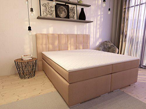 Boxspringbett ka-line® 10x200 cm Beige H2 mit Stauraum Bettkasten Comfortbox Füßen Polsterbett Premium Hotelbett Bett amerikanische Doppelbett Luxus Komfort