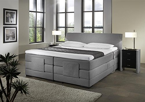 Breckle Boxspringbett 160 x 200 cm Napoli Box Elektro Inspiration Hollanda TFK Topper Gel Comfort