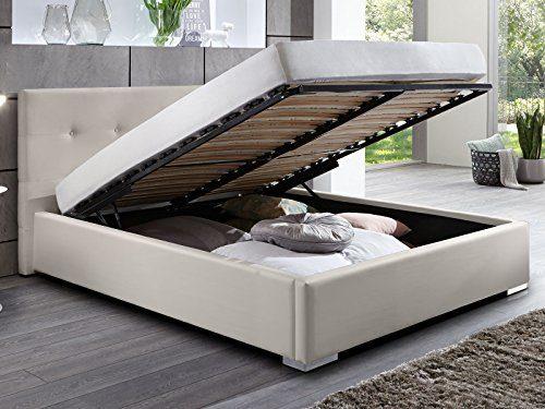 Polsterbett Bett mit Bettkasten beige Betty Doppelbett Ehebett mit Lift Lattenrost