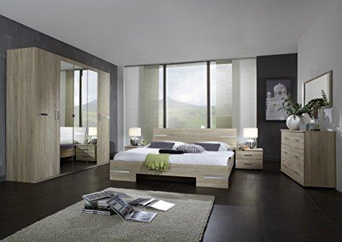 Dreams4Home Schlafzimmerkombination 'Avicio V', Schrank, Bett, Schlafzimmer komplett, Schlafzimmer Set, Eiche sägerau
