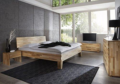 Dreams4Home, Schlafzimmerkombination, Massivholzbett, Bett, Massivholz, Buche 'Bologna' 90, 100, 120, 140, 160, 180, 200x200 cm