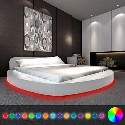 festnight polsterbett bett doppelbett ehebett aus. Black Bedroom Furniture Sets. Home Design Ideas