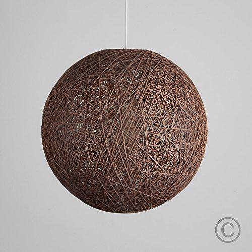 MiniSun – Mittelgroßer und moderner Lampenschirm im Kugelform aus Korb – für Hänge- und Pendelleuchte