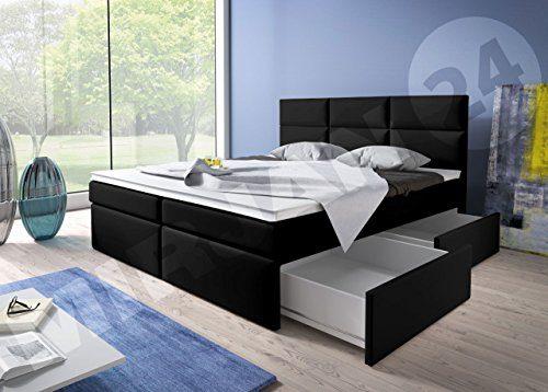 OUTLET !! Boxspringbett Inter, Bonell Federkernmatratze, inkl. Komfortschaum-Topper, Doppelbett Ehebett amerikanisches Bett