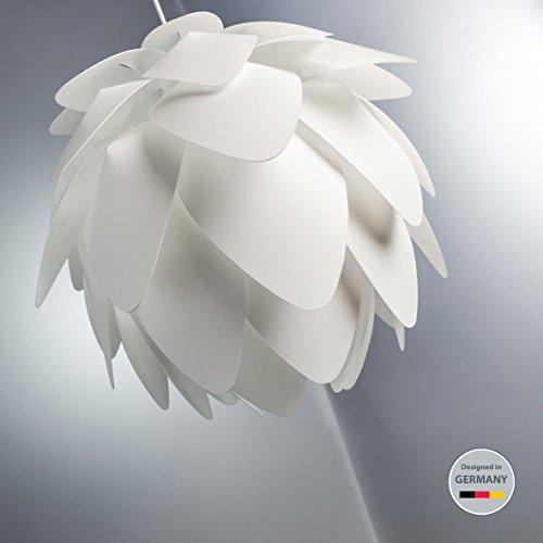 Pendelleuchte I Deko-Lampe I Couchtisch-Lampe I Decken-Leuchte I Hängelampe I moderne Wohnzimmer-Lampe I Weiß aus Kunststoff I Puzzle-Lampe I Esstisch-Lampe I Decken-Lampe I Kinderzimmer-Leuchte I Design