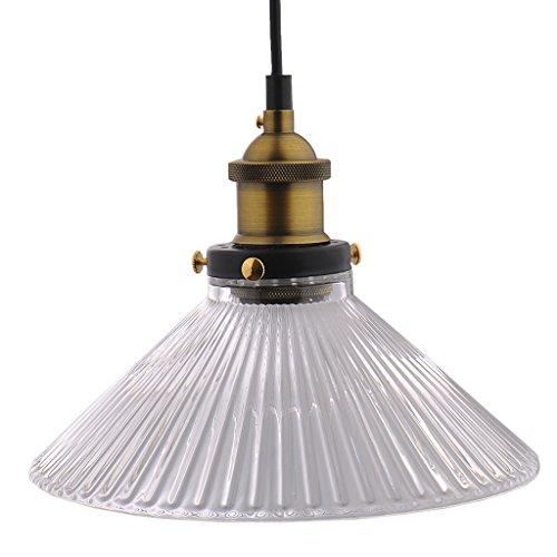Samber Glas Deckenleuchte Hängelampe Lampe Lampenschirm und 1,5 m Lampe Draht