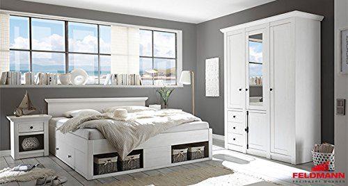 Schlafzimmer 441048 komplett 4-teilg Westerland pinie weiß