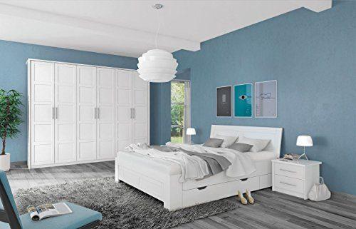 Schlafzimmer Komplett - Set A Samoa, 5-teilig, Farbe: Weiß