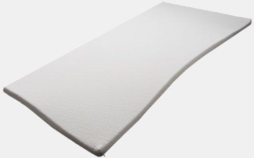 Sondermaße 5cm Viscoelastische Matratzenauflage mit Bezug Milano Härte 3 Visco Auflage Topper Memory Matratze Gelschaum