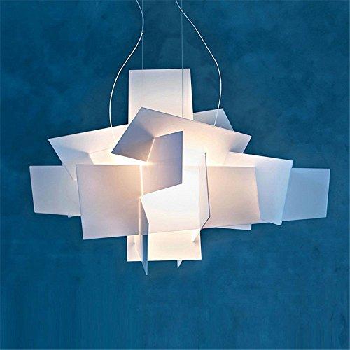 Vi-xixi Moderne Pendelleuchte Design minimalistische Kronleuchter wohnzimmer schlafzimmer Mode Hängelampe Kreative Persönlichkeit weiß Esstisch Höhenverstellbar Beleuchtung, 2 X E27, Ø 65 cm (white)