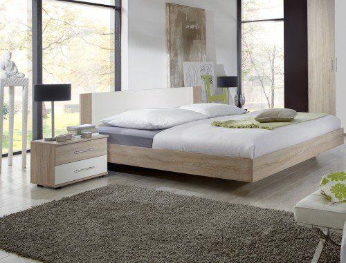 Wimex Schlafzimmer-Set 785143 Franziska, Eiche sägerau-Nachbildung, Abs. Weiß