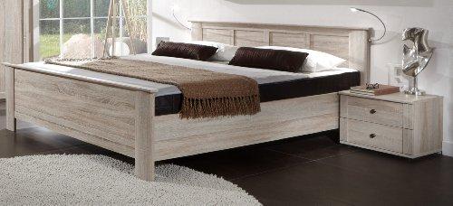 Wimex Schlafzimmer Set Chalet, bestehend aus Bett und Nachtschränken, Liegefläche 180x200 cm, Eiche sägerau-Nachbildung