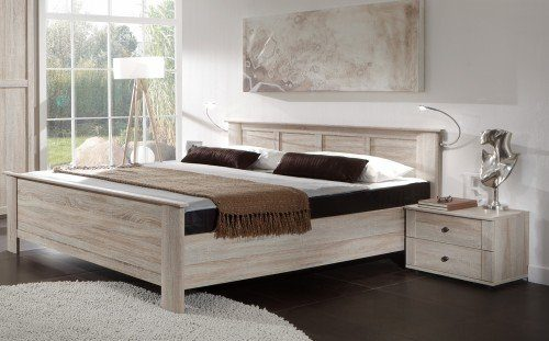 Wimex Schlafzimmer Set Chalet, bestehend aus Bett und Nachtschränken, Liegefläche 160x200 cm, Eiche sägerau-Nachbildung
