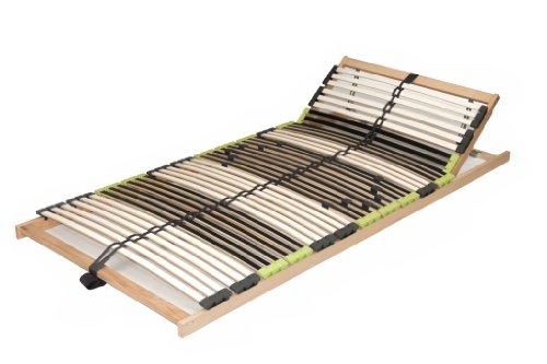 DaMi Lattenrost Lattenrahmen zerlegt Relax Kopf mit 42 Leisten und Kopfverstellung (140 x 200 cm)